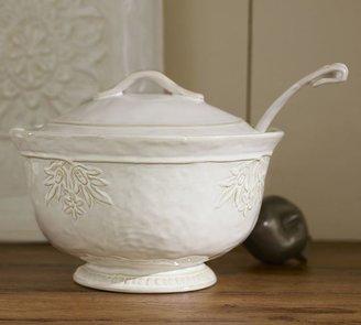 Pottery Barn Juliette Soup Tureen & Ladle