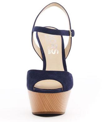 KORS Iden Suede Platform Sandal