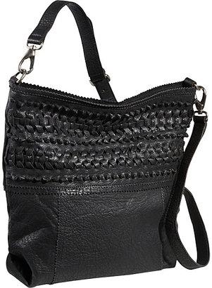 IKE Roxbury Woven Leather Shoulder Bag