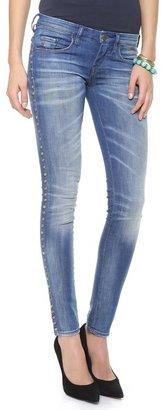 Blank Studded Skinny Jeans