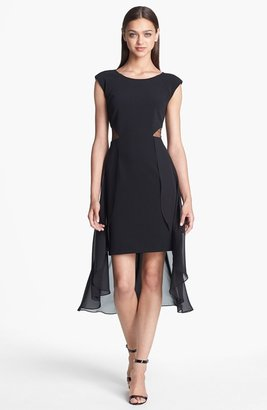 Adrianna Papell Cutout Chiffon Overlay Sheath Dress (Online Only)