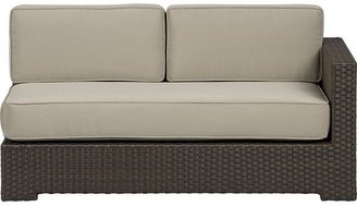 Crate & Barrel Ventura Modular Right Arm Loveseat with Cushions (includes one seat and two back cushions) in Sunbrella: Stone