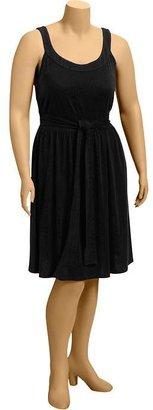 Old Navy Women's Plus Tie-Belt Jersey Dresses