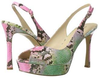 Nine West HellsFire (Pink Multi Synthetic) - Footwear
