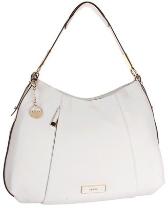 DKNY Crosby Ego Leather Hobo (White) - Bags and Luggage