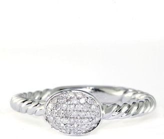 EFFY COLLECTION Sterling Silver Textured Oval Diamond Ring