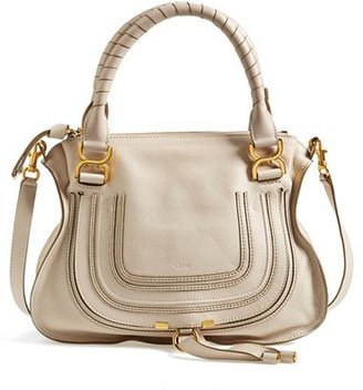 Chloe 'Medium Marcie' Leather Satchel - White $1,990 thestylecure.com