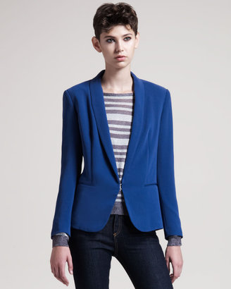 Rag and Bone Rag & Bone Sliver Tuxedo Jacket, Blue