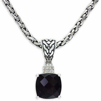 Effy Smoky Quartz and Sterling Silver Pendant Necklace with 0.03 TCW Diamonds