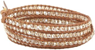 Chan Luu 32' Wrap with Swarovski Crystals Golden Shadow Mix (Golden Shadow/Natural Brown) - Jewelry