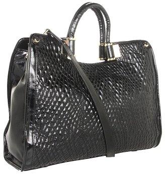 Ivanka Trump Rose Top Handle Shopper (Black 1) - Bags and Luggage
