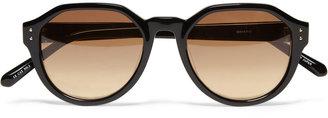 Linda Farrow Luxe Angular-Frame Acetate Sunglasses