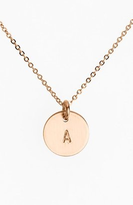 Women's Nashelle 14K-Rose Gold Fill Initial Mini Disc Necklace $60 thestylecure.com