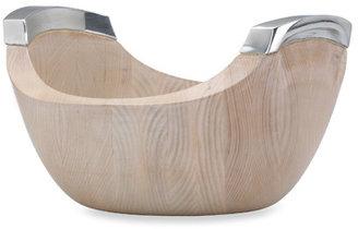 Dansk Torq Metal and White Woods Large Salad Bowl