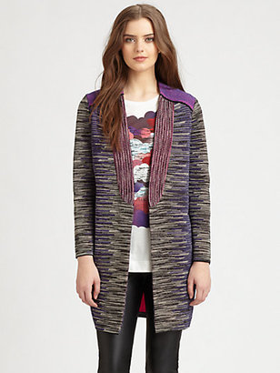 M Missoni Pieced Space-Dyed Knit Jacket