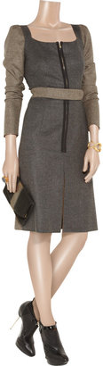Yves Saint Laurent Belted wool and cashmere-blend dress