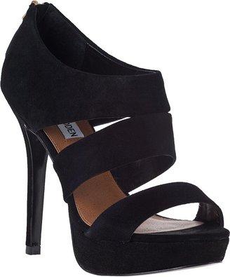 Steve Madden Buzzzer Platform Sandal Black Suede