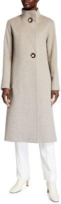Fleurette Wool Asymmetric Maxi Coat