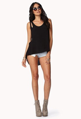 Forever 21 Contemporary Clear Cut High-Low Top