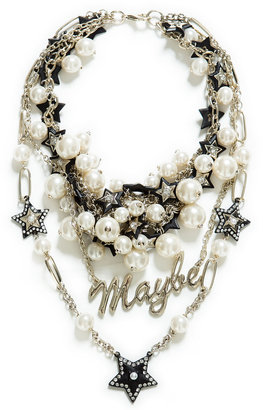 Zara Combination Pear And Chain Necklace