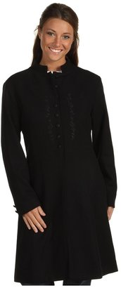 Scully Embroidered Front Coat (Black) - Apparel