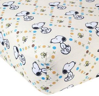 Lambs & Ivy bff snoopy crib sheet