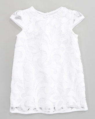 Milly Minis Magnolia Cap Sleeve Lace Dress, Sizes 8-10