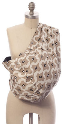 Reversible Baby Pouch in Safari and Chocolate Brown
