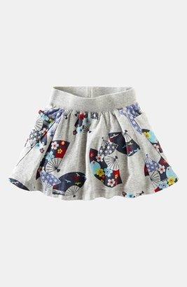 Tea Collection 'Deco Fans' Skirt (Toddler Girls, Little Girls & Big Girls) Medium Heather Grey 2T