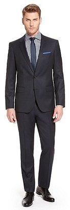 HUGO BOSS Huge/Genius Slim Fit, Super 120 Italian Virgin Wool Suit - Dark Blue