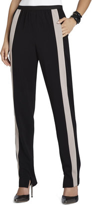 BCBGMAXAZRIA Michael Contrast-Striped Relaxed Trouser