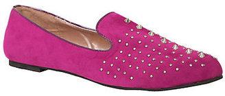Yoki - Raspberry Spike Stud Loafer Flats (Medium Width)