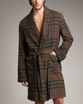 Burberry Check Flannel Robe