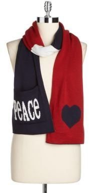 Jonathan Adler Peace & Love Reversible Pocket Muffler Scarf