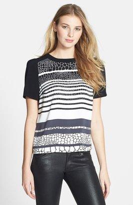 Halogen Colorblock Short Sleeve Blouse (Regular & Petite)