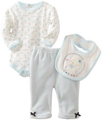 Rene Rofe Baby-girls Newborn Bunny Polar Fleece 3 Piece Set