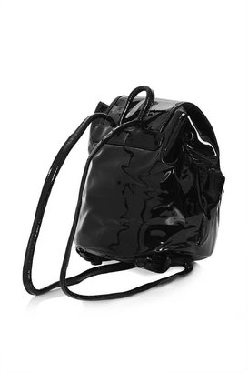 Topshop Patent Mini Backpack