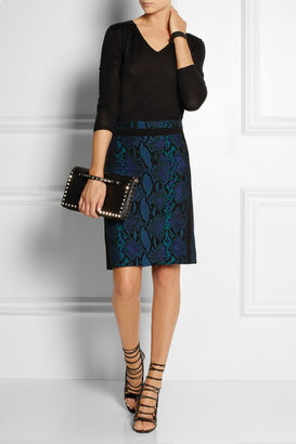 Diane von Furstenberg Paulina python-jacquard skirt