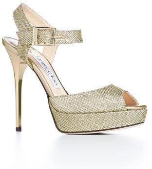 Jimmy Choo Linda Glittered Platform Sandal