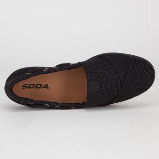Soda Sunglasses Womens Slip-On Boat Shoes