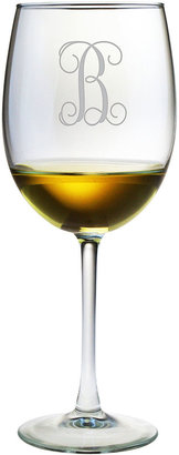 JCPenney 1 Letter Interlock Monogrammed Wine Glasses