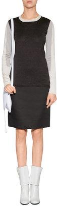 Jil Sander Black/Cream-Multi Colorblock Silk Pullover