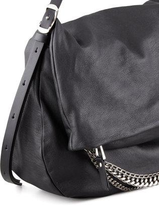Jimmy Choo Biker Large Hobo Bag, Black