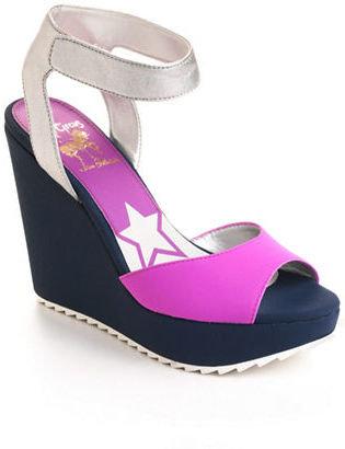 Sam Edelman CIRCUS BY Shae Colorblocked Platform Wedge Sandals