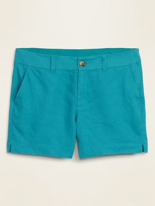 Old Navy Mid-Rise Linen-Blend Everyday Shorts for Women -- 5-inch inseam