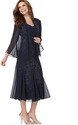 R&M Richards Sleeveless Beaded V-Neck Dress and Jacket $129 thestylecure.com