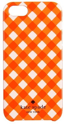 Kate Spade Gingham Phone Case for iPhone 5 (Valencia/Cream) - Bags and Luggage
