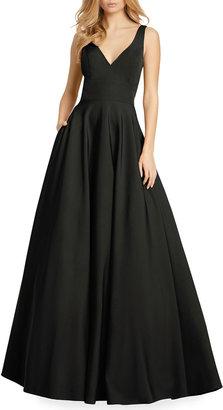 Mac Duggal V-Neck Empire Ball Gown