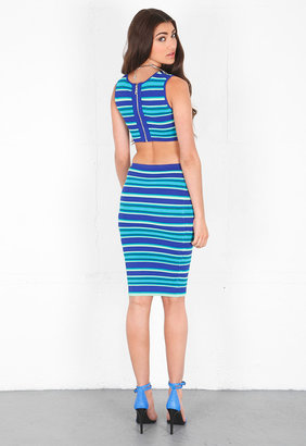 Torn By Ronny Kobo Harlow Dress in Turquoise