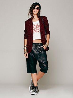 Free People Dzojchen Pleated Leather Short